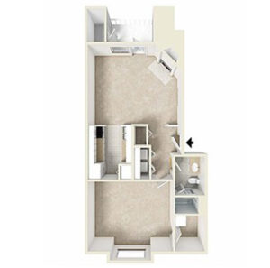 1 bed 1 bath floor plan